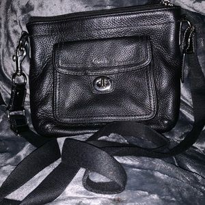 Small leather black COACH crossbody